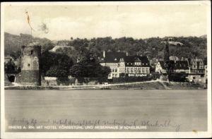 Ak Rhens am Rhein, Hotel Königstuhl, Nebenhaus Wackelburg