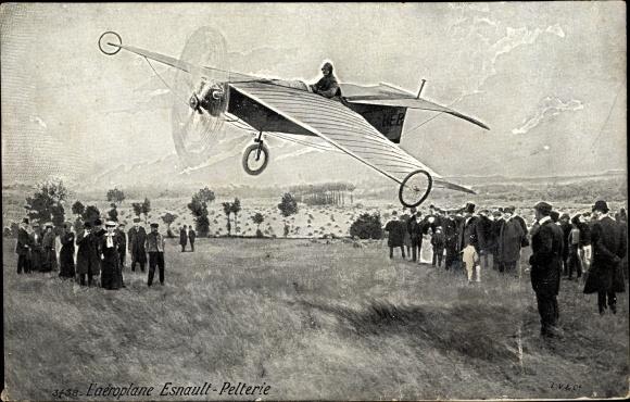 Ak L'Aéroplane Esnault Pelterie, Flugpionier