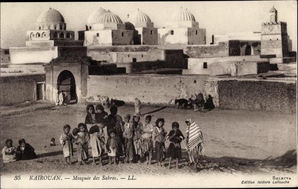Ak Kairouan Tunesien, Mosquée des Sabres, enfants