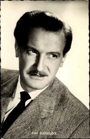 Ak Schauspieler Karl Schönböck, Portrait