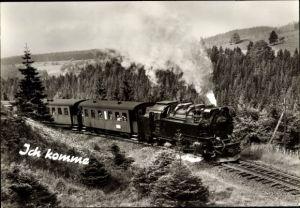 Ak Vorbeifahrende Eisenbahn, Lokomotive Nr. 99245