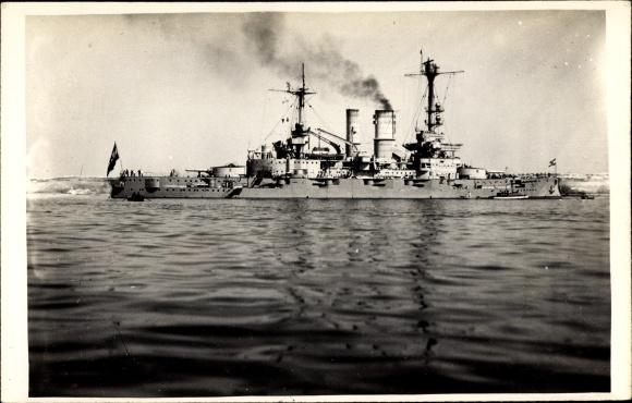 Foto Ak Deutsches Kriegsschiff, Schlesien, Reichsmarine