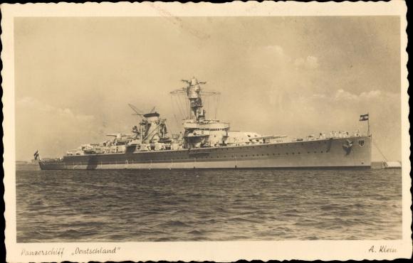 Ak Deutsches Kriegsschiff, Panzerschiff Deutschland