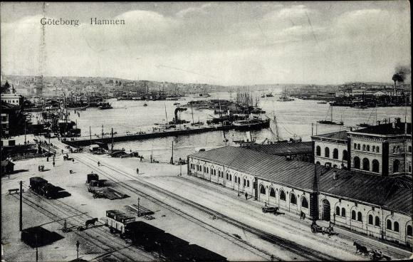 Ak Göteborg Schweden, Hamnen, Hafen
