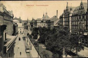 Ak München Bayern, Straßenpartie am Promenadenplatz, Denkmal
