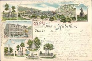 Litho Gorze Lothringen Moselle, Hotel von Habillon, Denkmäler