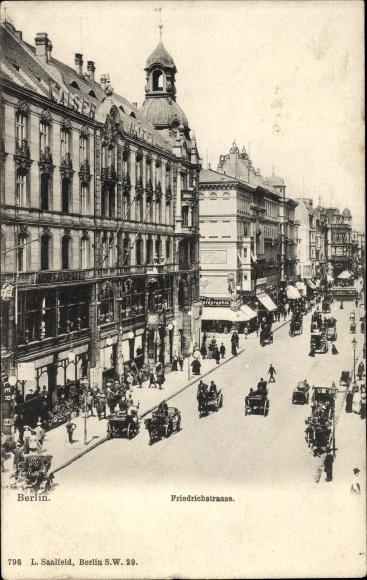 Ak Berlin Mitte, Partie in der Friedrichstraße