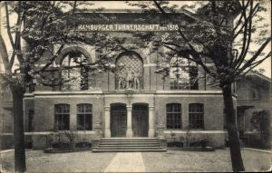Ak Hamburg Mitte St. Georg, Haus d. Hamburger Turnerschaft v. 1816, Außenansicht