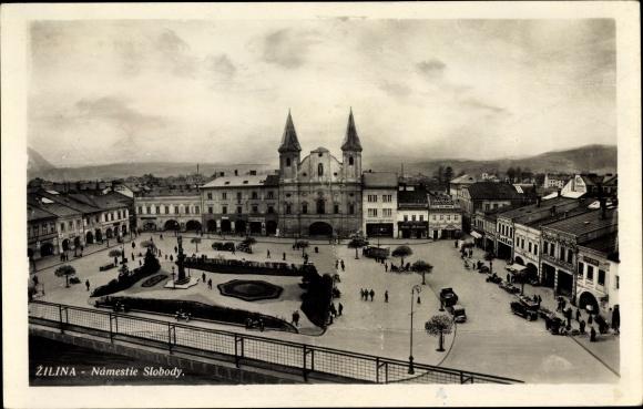 Ak Žilina Sillein Slowakei, Namestie Slobody, Markt