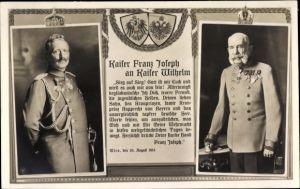 Ak Kaiser Franz Joseph I., Kaiser Wilhelm II., NPG 4883