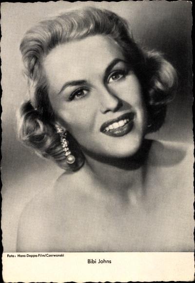 Ak Schauspielerin und Sängerin Bibi Johns, Ohrringe, Portrait