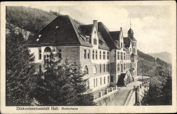 Ak Schwäbisch Hall in Baden Württemberg, Diakonissenanstalt Hall, Mutterhaus