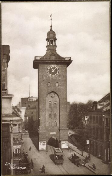 Ak Elbląg Elbing Westpreußen, Markttor