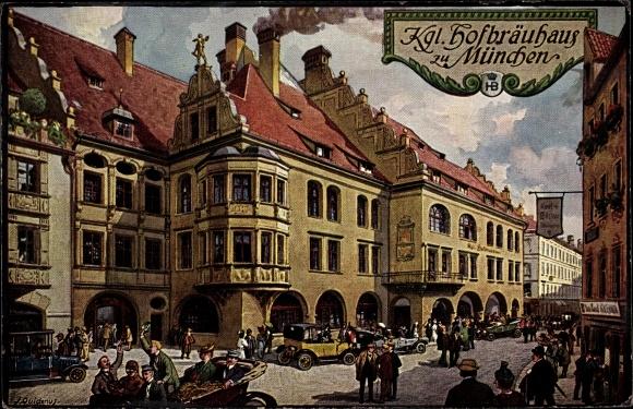 Künstler Ak München Bayern, königliches Hofbräuhaus
