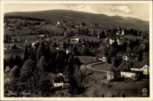 Ak Przesieka Hain Podgórzyn Giersdorf Riesengebirge Schlesien, Panorama vom Ort m d. Schneegruben