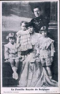 Ak La Famille Royale de Belgique, König Albert I. von Belgien