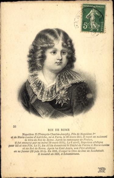 Ak Roi de Rome, Napoleon Franz Bonaparte, Kinderportrait