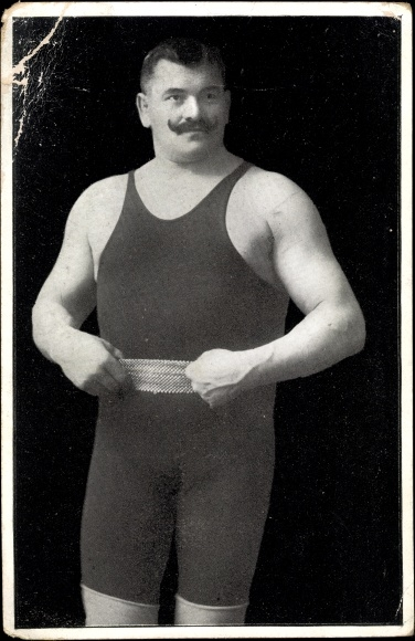 Ak Ringer John Pohls, Meisterschaftsringer Europas von 1895, Portrait