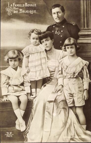 Künstler Ak König Albert I. von Belgien, Königin Elisabeth Gabriele von Belgien