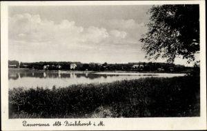 Ak Alt Buchhorst Grünheide Mark, Panorama vom Ort mit See
