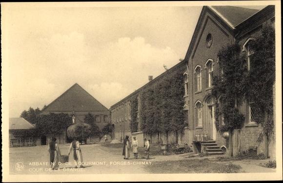 Ak Forges Chimay Wallonien Hennegau, Abbaye N. D. de Scourmont, Cour de la Grange
