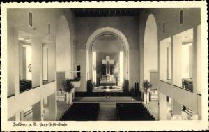 Ak Jablonec nad Nisou Gablonz an der Neiße Reg. Reichenberg, Herz Jesu Kirche, Blick auf den Altar