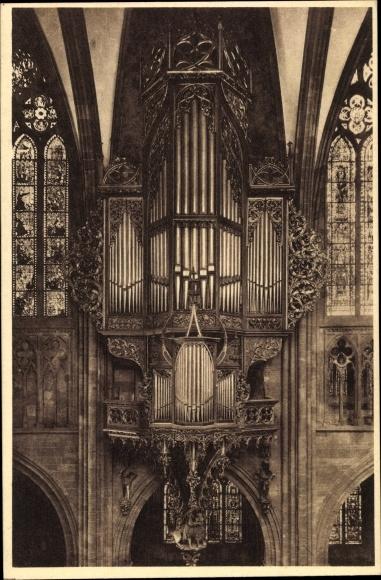 Ak Straßburg Elsaß Bas Rhin, Cathédrale, Orgue, Münster, Orgel