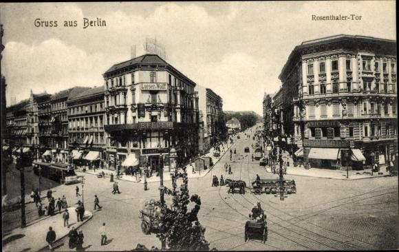 Ak Berlin, Rosenthaler Tor, Loeser & Wolff, Geschäft B. Feder, Carl Martienzen