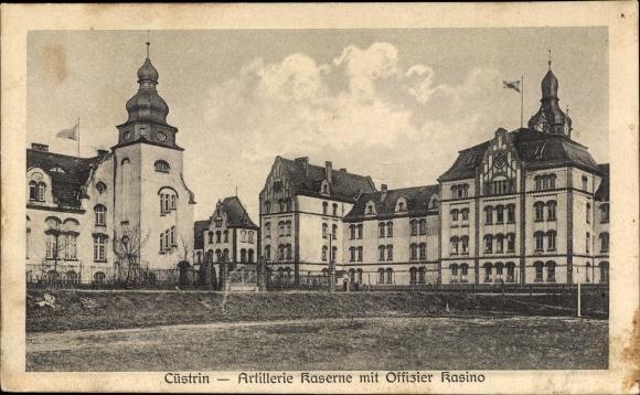 Ak Kostrzyn nad Odrą Cüstrin Ostbrandenburg, Artillerie Kaserne, Offizier Kasino