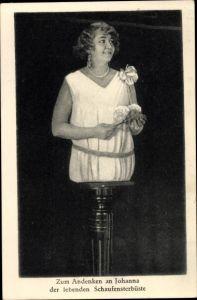 Ak Johanna, die lebende Schaufensterbüste, Frau ohne Beine