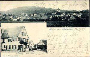Ak Schnait Weinstadt in Baden Württemberg, Handlung Wilh. Deiss, Totalansicht vom Ort