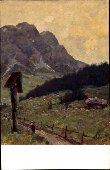 Künstler Ak Polesello, E., Il Cristallo dopo il temporale, Monte Cristallo nach dem Gewitter