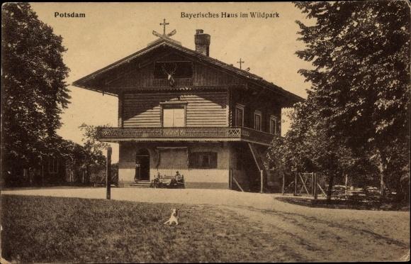 Ak Potsdam In Brandenburg Bayrisches Haus Im Wildpark Aussenansicht