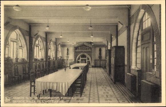 Ak Forges Chimay Wallonien Hennegau, Abbaye N. D. de Scourmont, Grande Salle de l'Hôtellerie