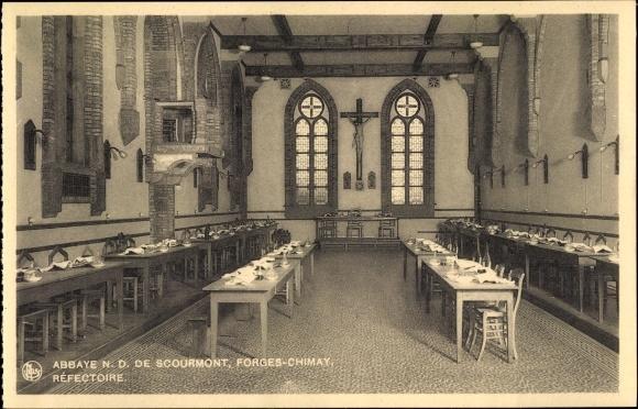 Ak Forges Chimay Wallonien Hennegau, Abbaye N. D. de Scourmont, Réfectoire