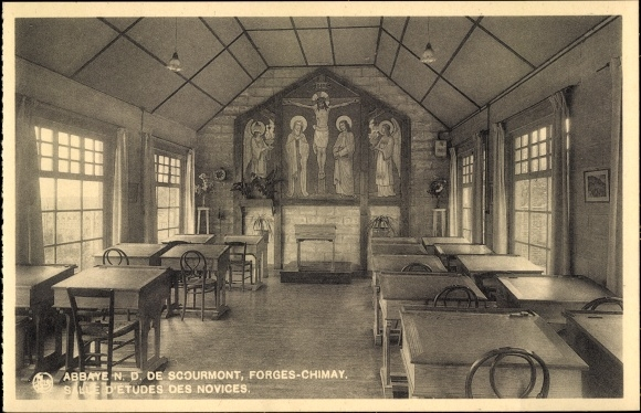 Ak Forges Chimay Wallonien Hennegau, Abbaye N. D. de Scourmont, Salle d'Études des Novices