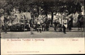 Ak Hamburg, IX. Deutsches Turnfest, Festwagen