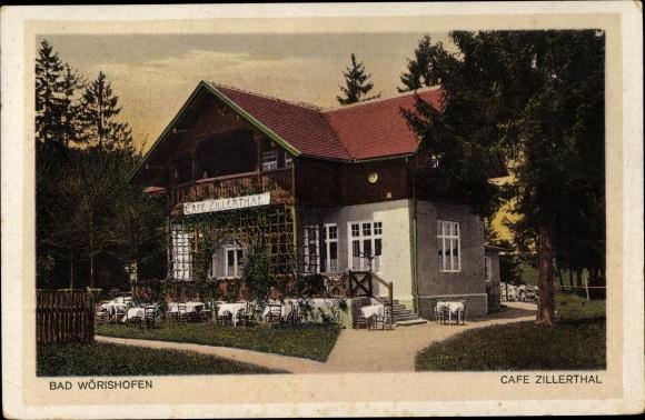 Ak Bad Wörishofen im Unterallgäu, Café Zillerthal