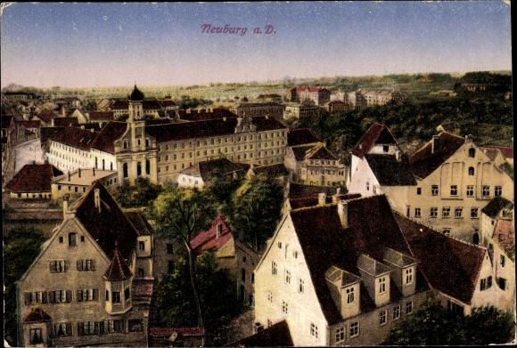 Ak Neuburg an der Donau Oberbayern, Teilansicht der Stadt 0