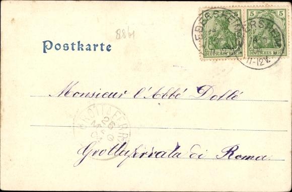 Ak Ebersmunster Ebersmünster Elsass Bas Rhin, Kirche, Kloster, Garten 1