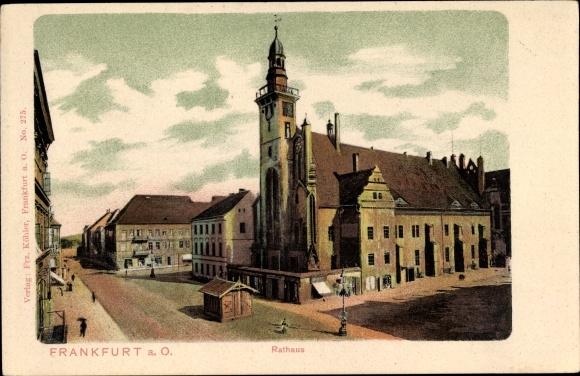 Ak Frankfurt an der Oder, Rathaus, Teilansicht der Stadt 0