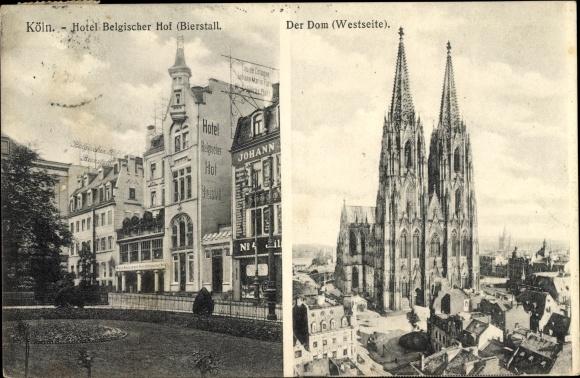 Ak Köln am Rhein, Dom, Hotel Belgischer Hof, Bierstall 0