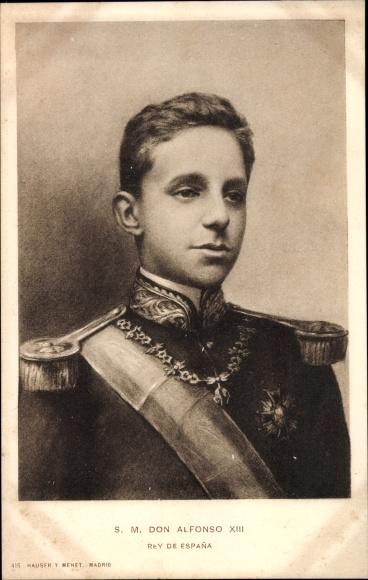 Künstler Ak König Alfons XIII. von Spanien, Portrait 0
