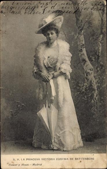 Ak Prinzessin Victoria Eugénie Julia Ena von Battenberg, Königin von Spanien 0