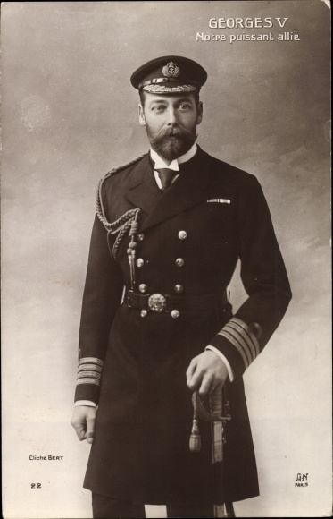 Ak King George V., König Georg V. von England, Portrait in Uniform, Admiral, Royal Navy
