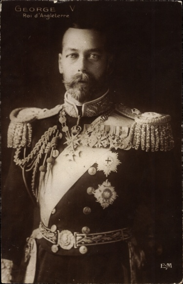 Ak King George V., König Georg V. von England, Portrait in Uniform