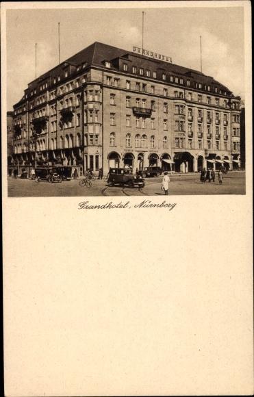 Ak Nürnberg in Mittelfranken Bayern, Strandhotel, Außenansicht von der Straße