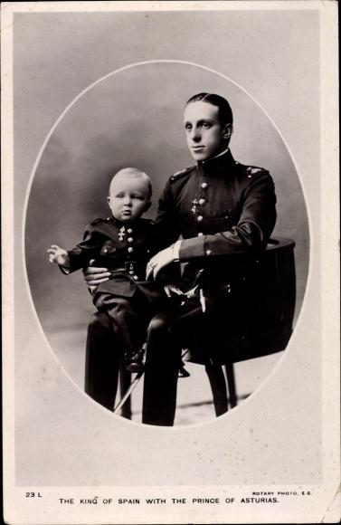 Ak König Alfons XIII. von Spanien, Alfons Pius de Borbón, Fürst von Asturien 0