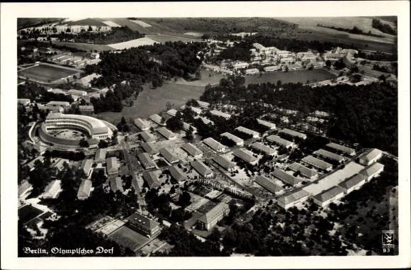 Ak Wustermark Brandenburg, Olympisches Dorf, Fliegeraufnahme, Klinke & Co. B 3 0