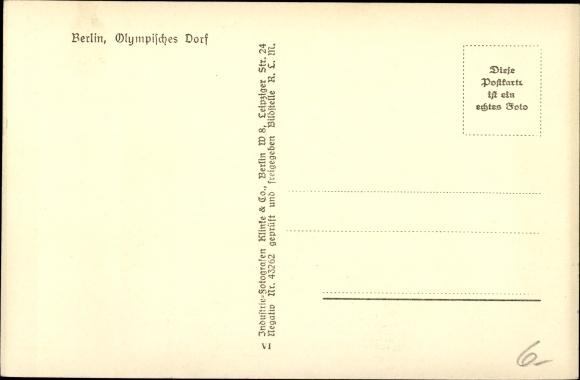 Ak Wustermark Brandenburg, Olympisches Dorf, Fliegeraufnahme, Klinke & Co. B 3 1